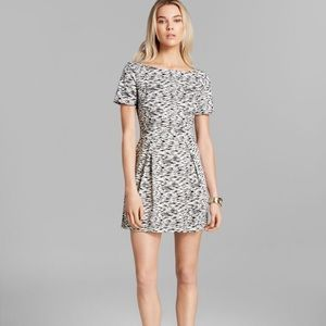 French Connection Cap-Sleeve Sahara Wave Dress